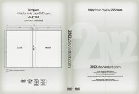 dvd case inlay