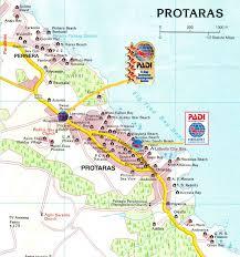 cyprus protaras map