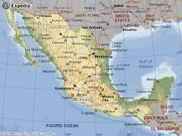 mapa de los estados de la republica mexicana