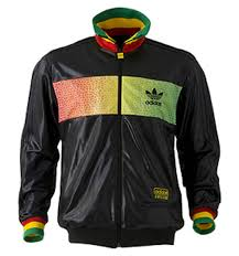 green adidas track top