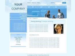 blue web templates