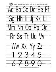 alphabet printing
