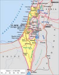 izrael mapa