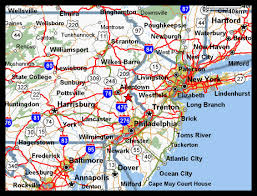 map of nj and pa