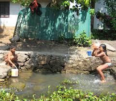 bathing kids