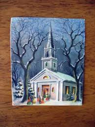 church christmas card