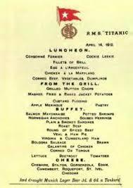 luncheon menu