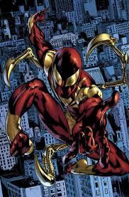 iron spiderman costume