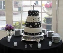 black and white wedding cake designs