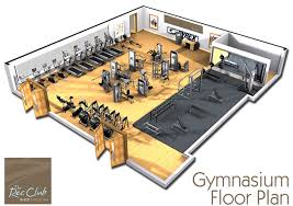 gymnasium floor plan