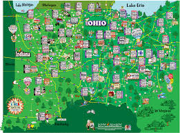 map of indiana and ohio