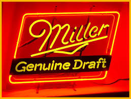 miller light neon sign
