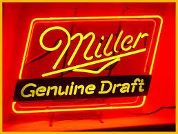 miller light neon signs