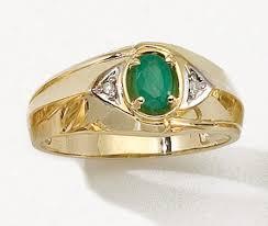 men emerald ring