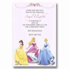 disney princess birthday invites