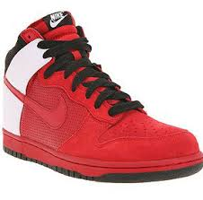nike dunks high red