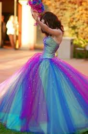 colorful prom dress