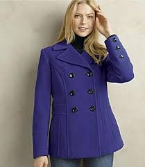 lady pea coat