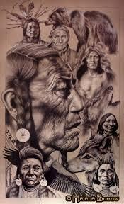 drawings of native americans
