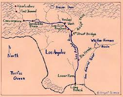 los angeles river map