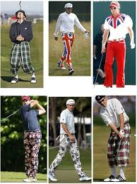 old fashioned golf clothing