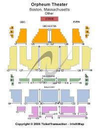 orpheum seating chart boston
