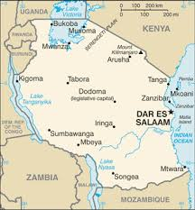 map of tanzania africa
