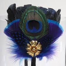 peacock feather headbands