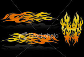 car flames graphics