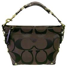 coach handbag brown