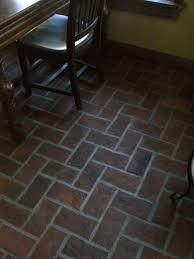 brick kitchen floors