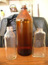 glass clorox bottles