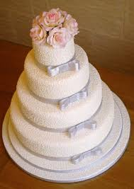 silver wedding cakes