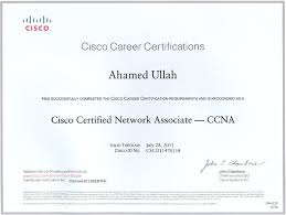 ccna certificates