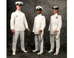 navy dress white uniform