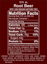 beverage nutrition facts