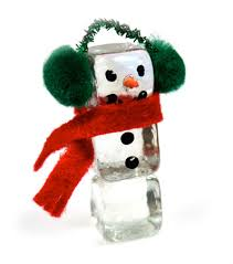 ice cube snowman