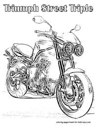 motorcycle coloring pictures
