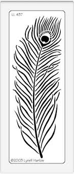 peacock feather stencil