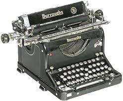burroughs typewriter