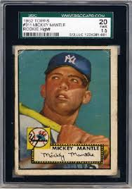 1952 bowman mickey mantle