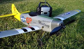 mustang rc airplane