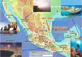 mapa playas mexico