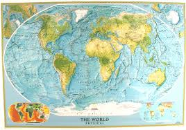 geographic map of world