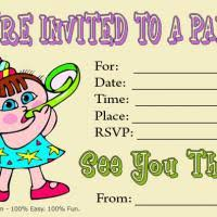 cartoon birthday invitation