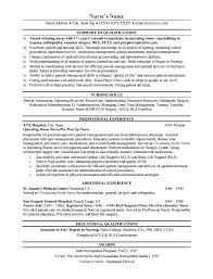 resume samples nurse