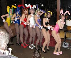 girls in bunny suits