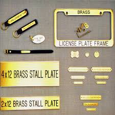 brass name tags