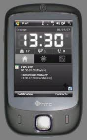 htc touch today screen