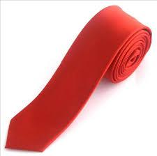 red skinny ties